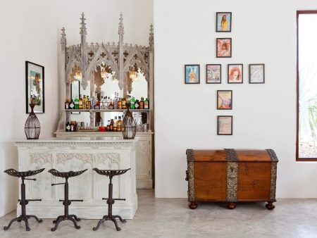 Ibiza-bar-stools-art-gallery-wall