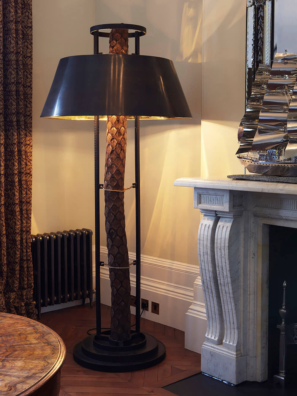 Ladbroke-Grove-W11-Mantelpiece-floor-lamp