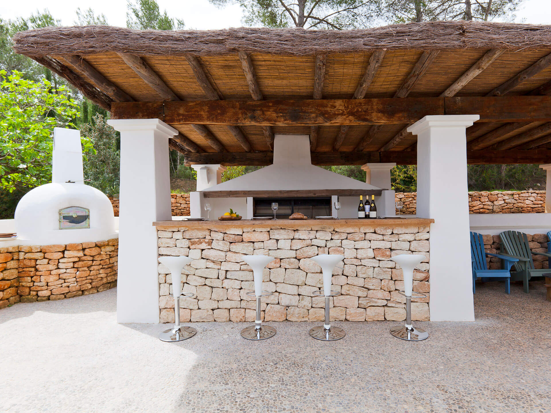 Ibiza - Outside kitchen - Wide Shot