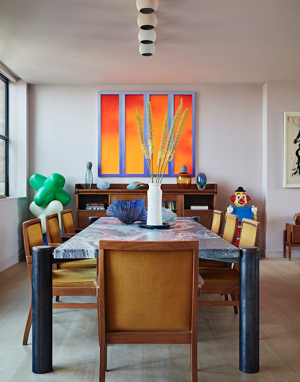 West London pied-a-terre quirky dining room