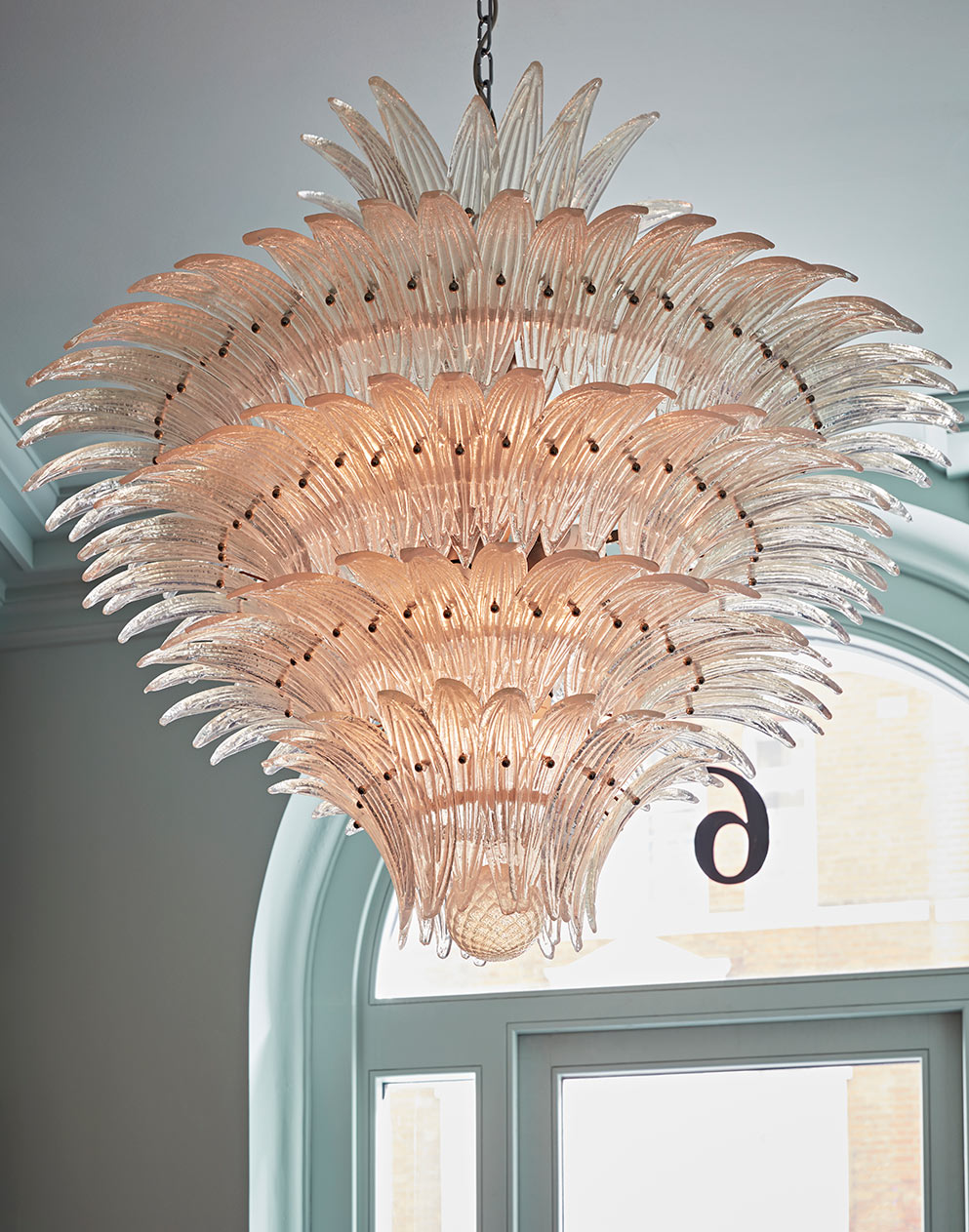 Really Useful Group London HQ beautiful glass chandelier
