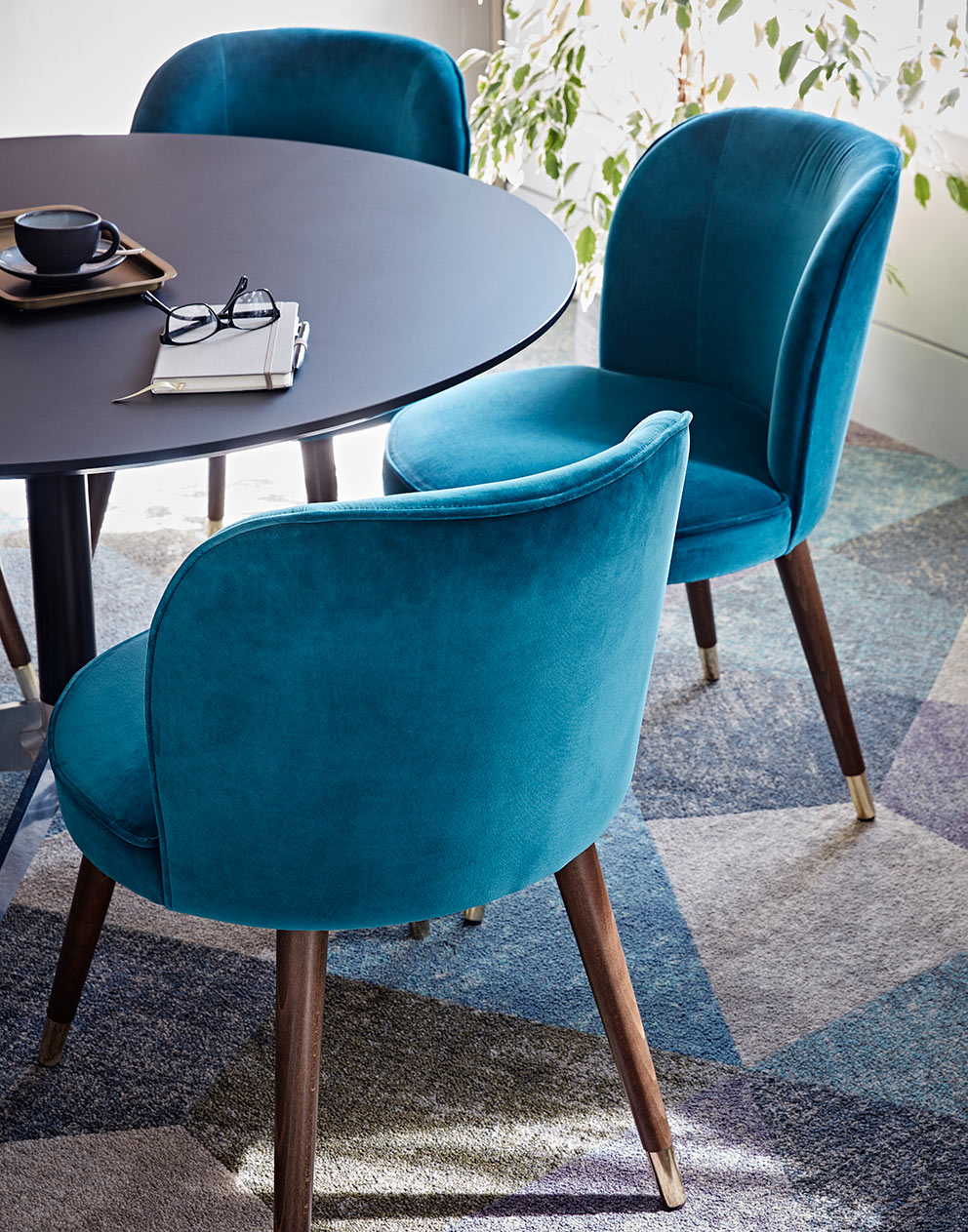 Really Useful Group London HQ velvet chairs